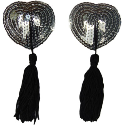 Muquam Reusable Heart String Polyester, Nylon Peel and Stick Bra Petals