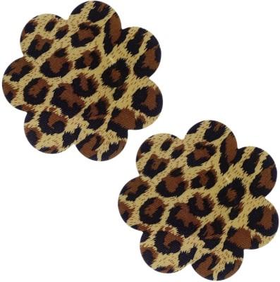 Muquam Leopard Flower Polyester, Spandex Peel and Stick Bra Petals