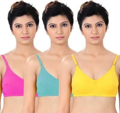 S4S Stylish Women's Full Coverage Pink, Green, Yellow Bra