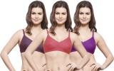 Hemali Women's Full Coverage Purple, Pin...