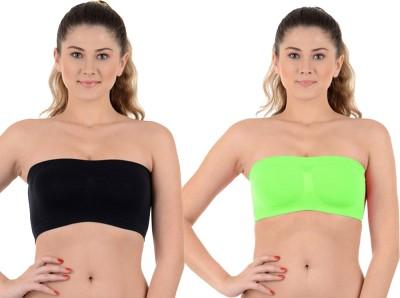 Kat Wears Women's Tube Black, Green Bra