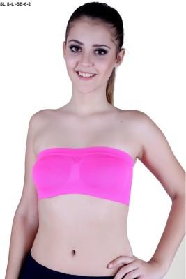 SLS Women's Tube Pink Bra