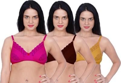 Aloft Lacer Women's Full Coverage Gold, Pink, Maroon Bra