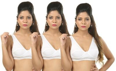 Body Liv Women's Sports White Bra