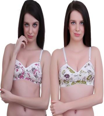 JSR Paris Beauty Pro Women's Full Coverage Green, Pink Bra