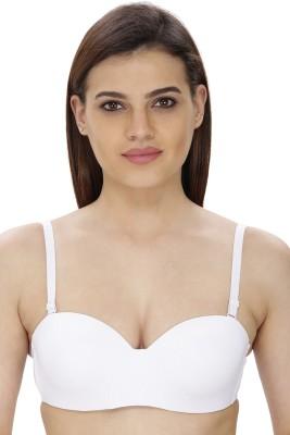 Secret Wish by Secret Wish Women's T-Shirt White Bra