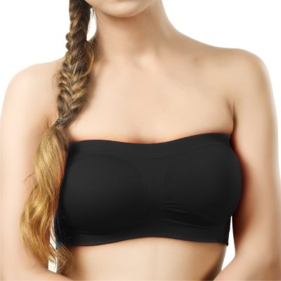 La Verite Pro Women's Tube Black Bra
