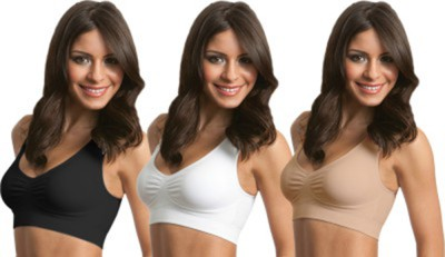 Farji Darji Arbra.01 Women,s Sports White, Black, Beige Bra