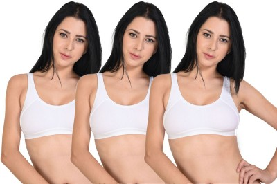 Saffina by Saffina Women's Sports White Bra