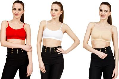 Sidh Raplifestyle Women's Full Coverage Red, White, Beige Bra