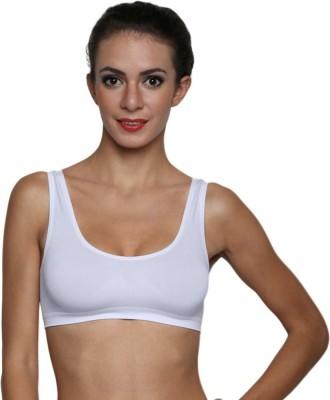 La Verite Pro Women's Sports White Bra