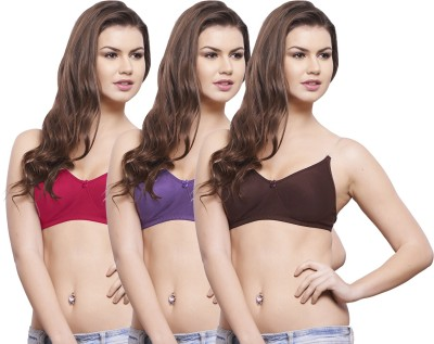 Hemali Transparent Women's Push-up Red, Purple, Brown Bra