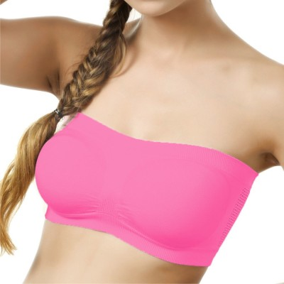 La Verite Pro Women's Tube Pink Bra