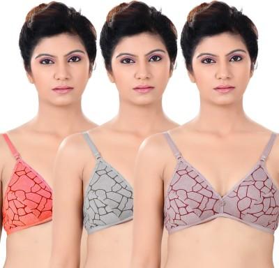 S4S Stylish Women's Push-up Orange, Grey, Brown Bra