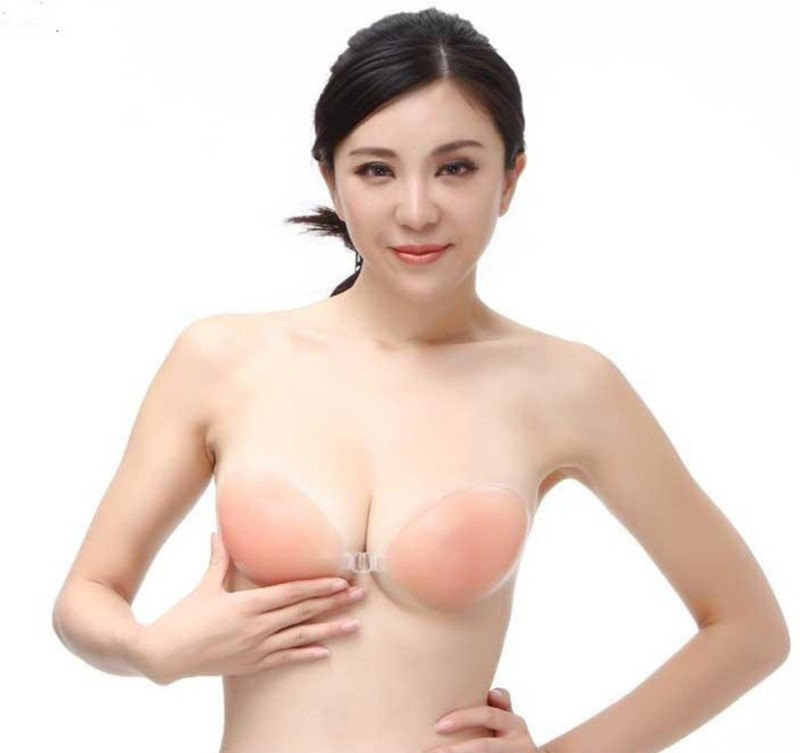 Piftif Silicone Peel and Stick Bra Petals(Beige Pack of 1)