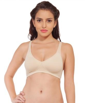 SOIE by Soie - Cotton Spandex Tshirt Women's T-Shirt Beige Bra