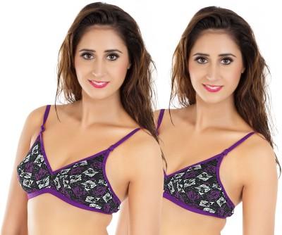 Status Fashion Women,s Minimizer Purple, Black Bra