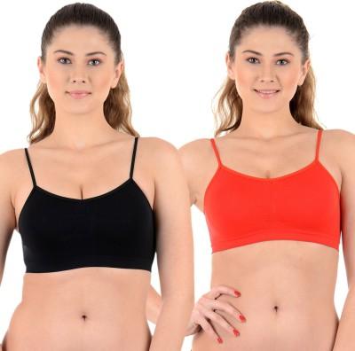Mynte Premium Women's Sports Beige, Pink Bra