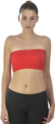 Kat Wears Fashion Women's Tube Red Bra