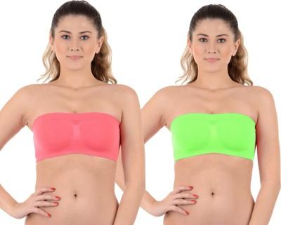 Kat Wears Women's Tube Pink, Green Bra