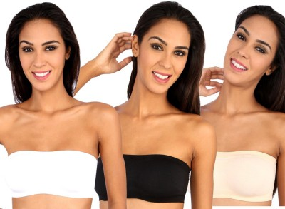 Novel Macy Women's Tube White, Black, Beige Bra