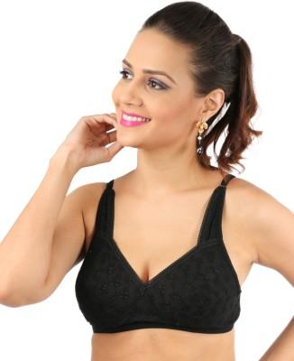 Bebo Sns Daily Wear Women's Full Coverage Black Bra