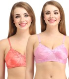 Lady Silk Women's Full Coverage Pink, Go...