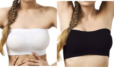 SEK Classic Luxe Women's Tube White, Black Bra
