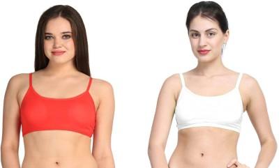 9ee467e3a0c Gopalvilla Women's Full Coverage Red, White Bra