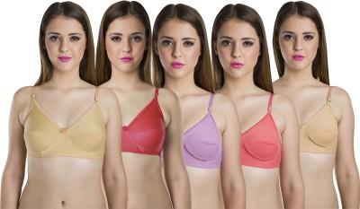 Cherryplus Perfect Women's Full Coverage Multicolor Bra at flipkart