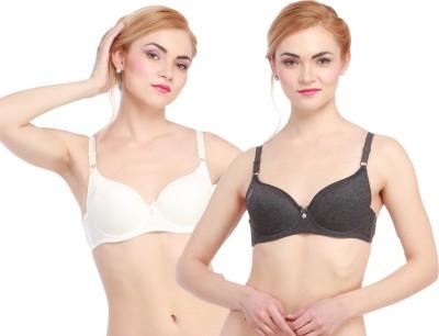 Glus LadyLove Women's Push-up Black, White Bra