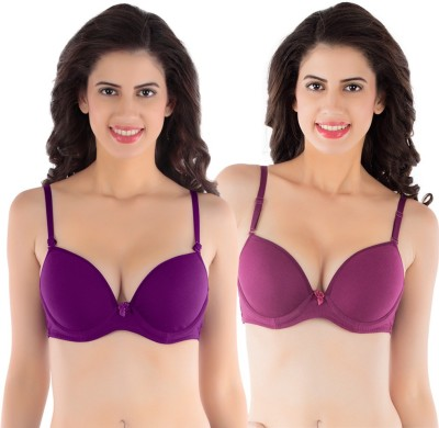 Tweens by Belle Lingeries - Padded Underwire Women's T-Shirt Purple Bra