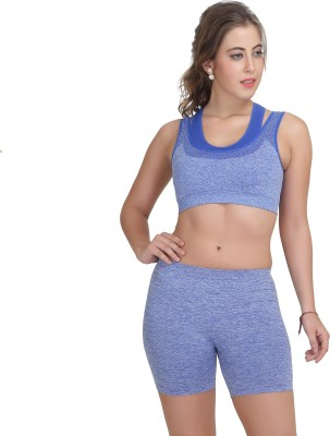 owomaniyah Women's Sports Blue Bra