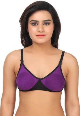 Gujarish Fashionable Women's Push-up Purple, Black Bra