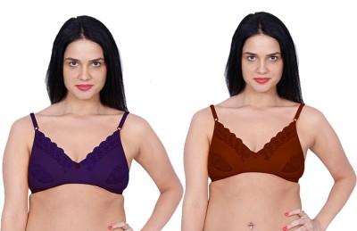 Aloft Lacer Women's Full Coverage Brown, Purple Bra