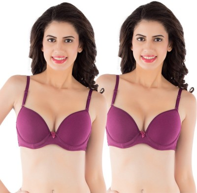 Tweens by Belle Lingeries - Pro Women's T-Shirt Maroon Bra