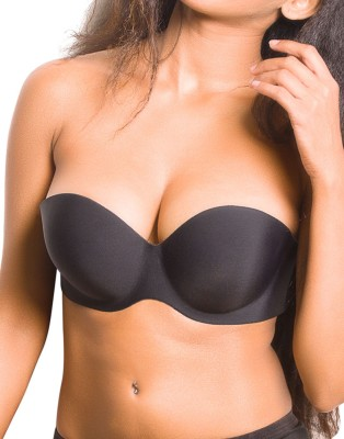 Blush Hearts Tiara Wings Women's Stick-on Black Bra at flipkart