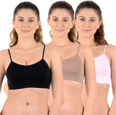 Mynte Premium Women's Sports Black, Grey, Beige Bra