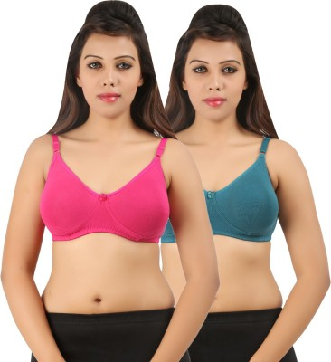 Extreme Women's Full Coverage Pink, Green Bra