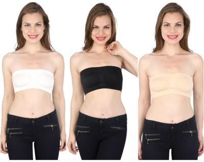 VA SALES Women's Tube Black, Beige, White Bra