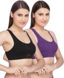 La Zoya Women's Sports Black, Purple Bra