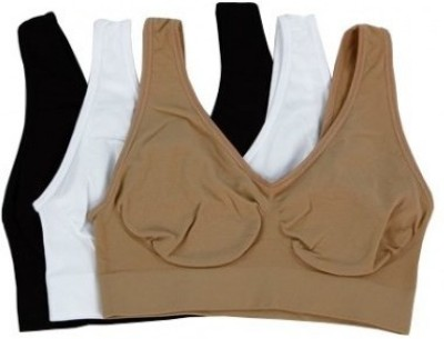 Wonder World ® Essentials™ Slim N Lift Aire™ Women's Sports Black, Beige, White Bra at flipkart