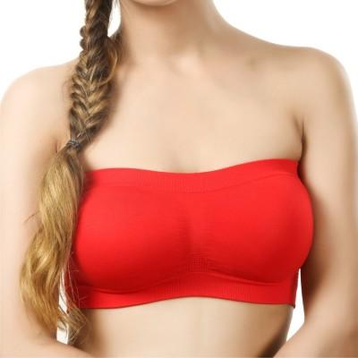 La Verite Pro Women's Tube Red Bra