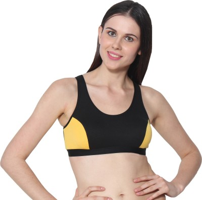 PRESTITIA by PRESTITIA Women's Sports Yellow Bra