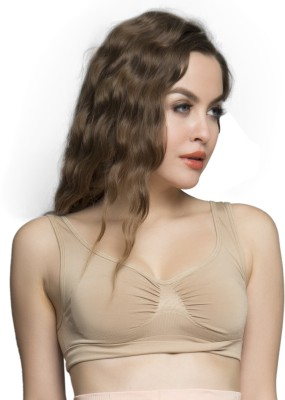 Clovia Non Wired Bra In Nude/Skin Women's Full Coverage Beige Bra at flipkart
