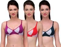 Softskin Trendy Women's Full Coverage Red, Green, Purple Bra