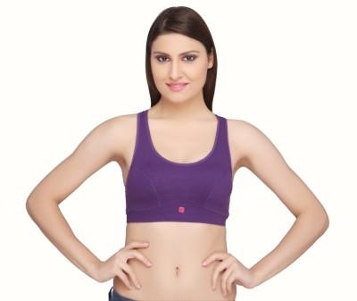 La Zoya by Intimodo Women's Sports Purple Bra