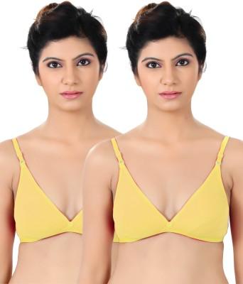S4S Stylish Women's Push-up Yellow Bra