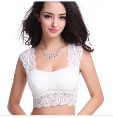 Samyak Women's Bralette, Full Coverage White Bra