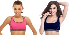 Secret World Women's Sports Pink, Purple Bra